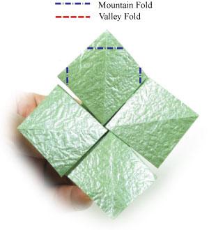 лист клевера оригами 35