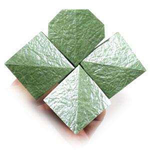 лист клевера оригами 36