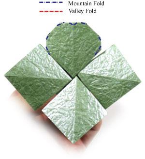лист клевера оригами 37