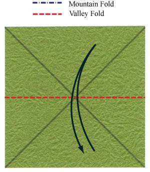 лист клевера оригами 5