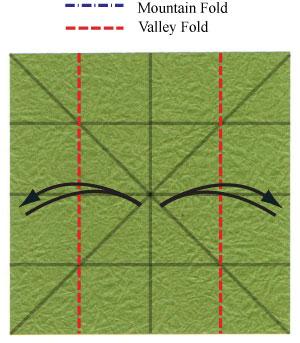 лист клевера оригами 8