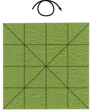 лист клевера оригами 9