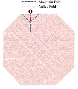 объёмная роза из бумаги 32