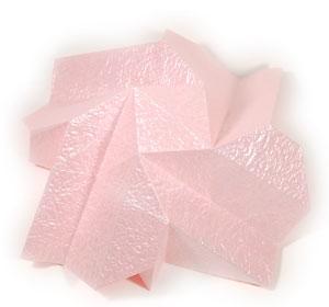 объёмная роза из бумаги 40