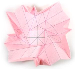 объёмная роза из бумаги 41