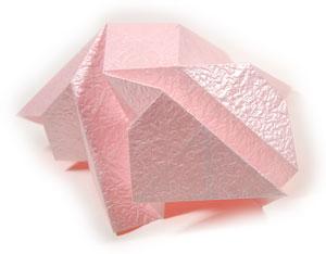 объёмная роза из бумаги 44