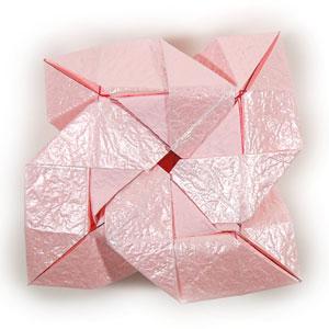 объёмная роза из бумаги 61