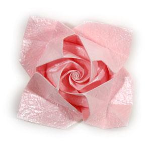 объёмная роза из бумаги 68