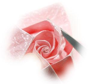 объёмная роза из бумаги 70