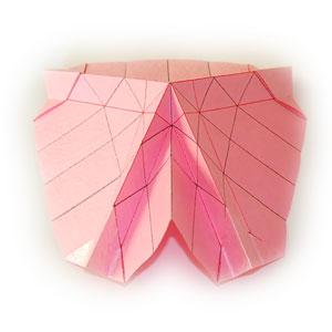 объёмная роза оригами 11