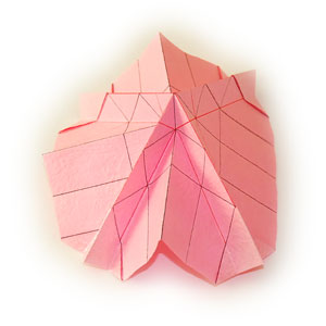 объёмная роза оригами 13