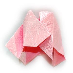 объёмная роза оригами 47