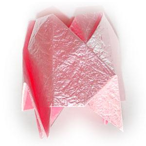объёмная роза оригами 48