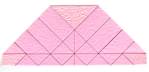 объёмная роза оригами 5