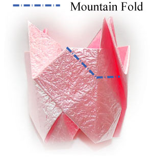 объёмная роза оригами 50