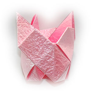 объёмная роза оригами 51