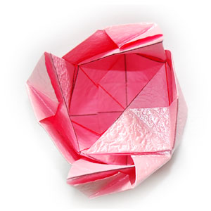 объёмная роза оригами 52