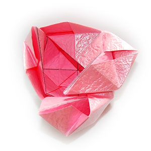 объёмная роза оригами 54