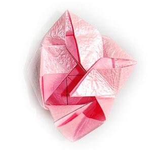 объёмная роза оригами 55