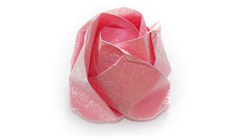 объёмная роза оригами 65