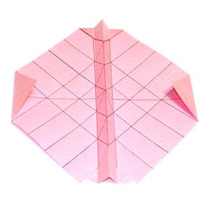 объёмная роза оригами 7