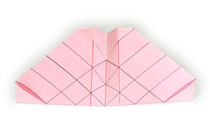 объёмная роза оригами 8