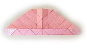 объёмная роза оригами 9