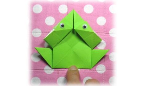 оригами для детей лягушка 23