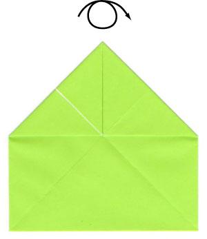 оригами для детей лягушка 9