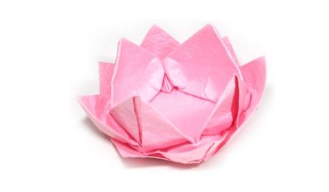 поделка из бумаги лотос 43