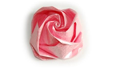 поделка из бумаги роза 62