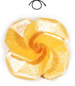 простая бумажная роза 51