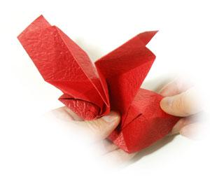 простая роза из бумаги 52
