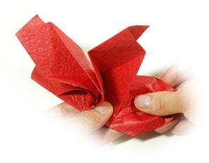 простая роза из бумаги 55