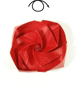 простая роза из бумаги 58