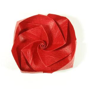 простая роза из бумаги 60