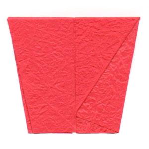 простая роза оригами из бумаги 10