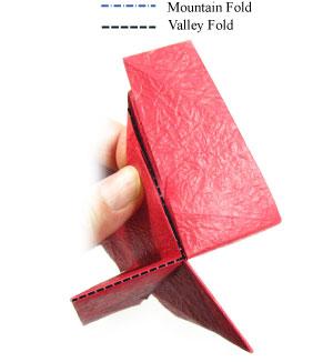 простая роза оригами из бумаги 14