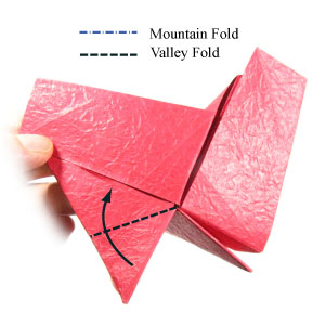 простая роза оригами из бумаги 15
