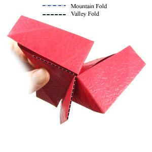 простая роза оригами из бумаги 16