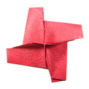 простая роза оригами из бумаги 18