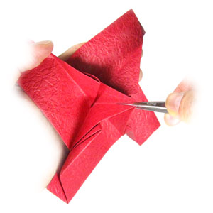 простая роза оригами из бумаги 19