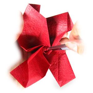 простая роза оригами из бумаги 20
