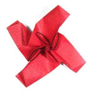 простая роза оригами из бумаги 23