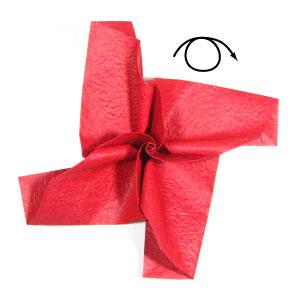 простая роза оригами из бумаги 24