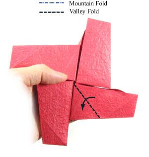 простая роза оригами из бумаги 25
