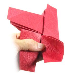 простая роза оригами из бумаги 26