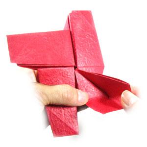 простая роза оригами из бумаги 27