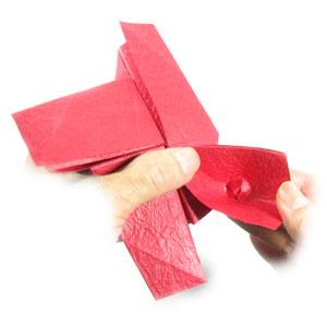 простая роза оригами из бумаги 28