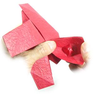 простая роза оригами из бумаги 29